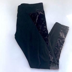 Justice Leggings BlackVelour Side Size 22 Plus